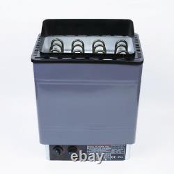 V0 Chauffage Sauna Poêle Humide / Spa Sec 6kw 8kw 9kw Panneau De Contrôle Interne En Aluminium
