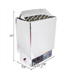 V0 Chauffage Sauna Poêle Spa 6kw 8kw 9kw Contrôleur Numérique Extérieur En Acier Inoxydable