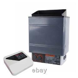 V0 Générateur De Sauna Électrique Poêle Spa 6kw 8kw 9kw Panneau De Contrôle Externe En Aluminium