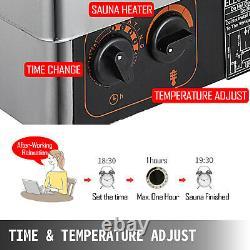 Vevor 9kw Chauffe-sauna Poêle Sèche Sauna Poêle Contrôle Interne Alliage D'aluminium